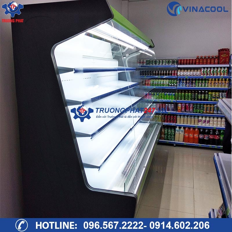tủ trưng bày hoa quả sạch Vinacool